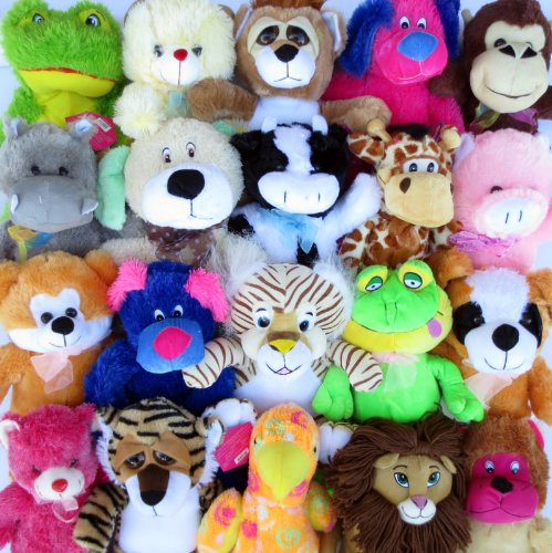 Discount Plush Premium Jumbo (12''-18'') Generic Plush Mix - 25 pack
