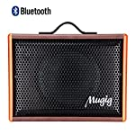 Mugig Guitar Amplifier for Acoustic Guitar Portable Chargeable Vocal Amp 25W Guitar Speaker for Karaoke Street Performance and Guitar Practice
