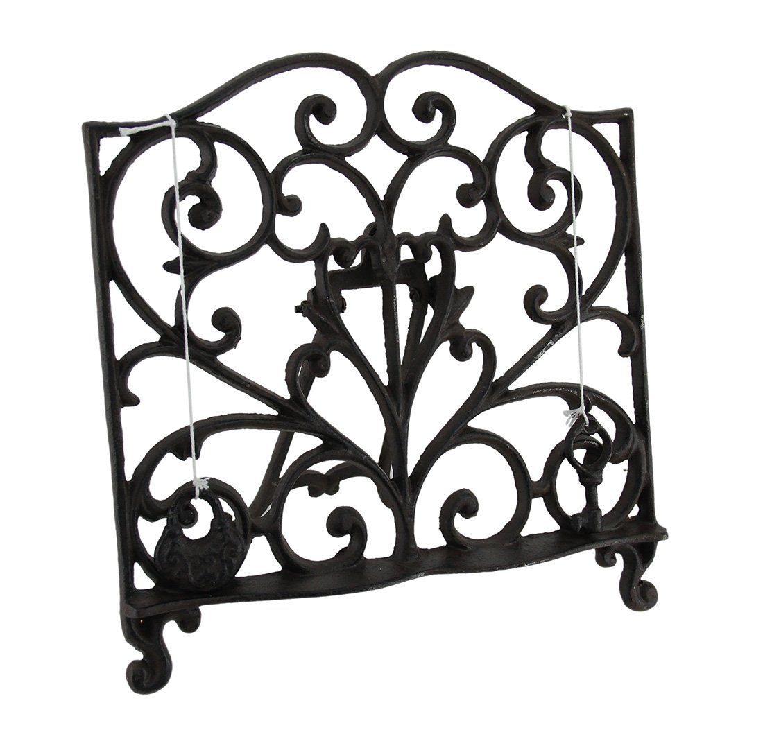 Fantasticdecor Cast Iron Cook Book Stand Display Easel