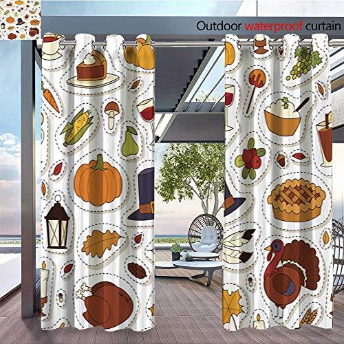 Sturbridge Light 6 (QianHe Patio Curtains Happy-Thanksgiving-Day-Seamless-Pattern-Vector-6.jpg Outdoor Curtain for Patio,Outdoor Patio Curtains W84 x L84(214cm x 214cm))