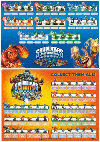 Skylanders Spyro's Adventure & Skylanders Giants Figures Posters Set