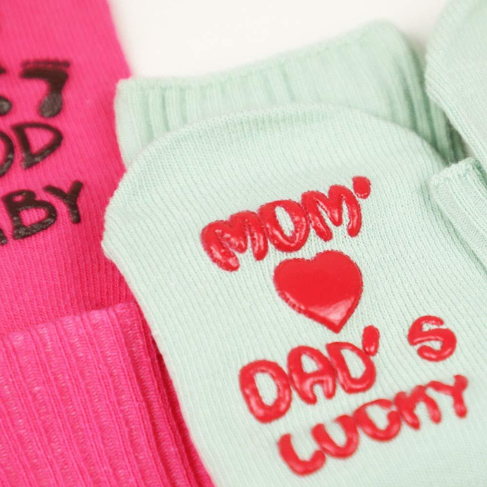 Baby Girl Socks Gift Set 4 Pairs Baby Girl Gifts Newborn Present Baby Shower Gifts Anti-skid Cute Quotes