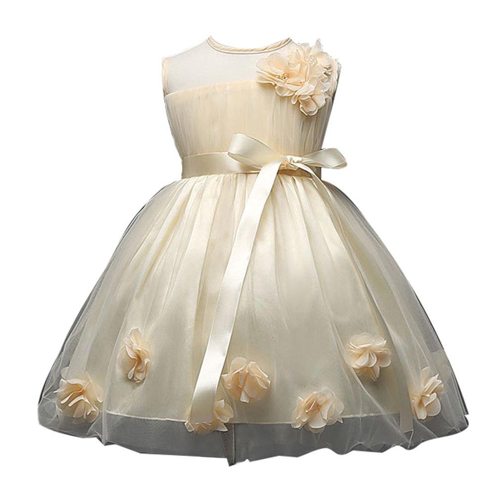 Baby Mädchen Kleider mit Blütenblätter Taufkleid Hochzeit Party ...