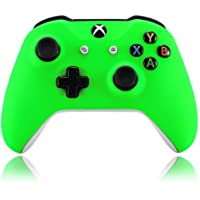 eXtremeRate Neon Green Soft Touch Grip Front Housing Shell Faceplate for Microsoft Xbox One X & One S Controller Model…