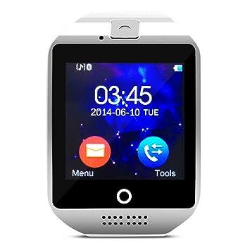 Reloj inteligente w/Cámara Facebook Whatsapp sincronización SMS MP3 Apoyo TF tarjeta sim para iOS Android Teléfono: Amazon.es: Electrónica