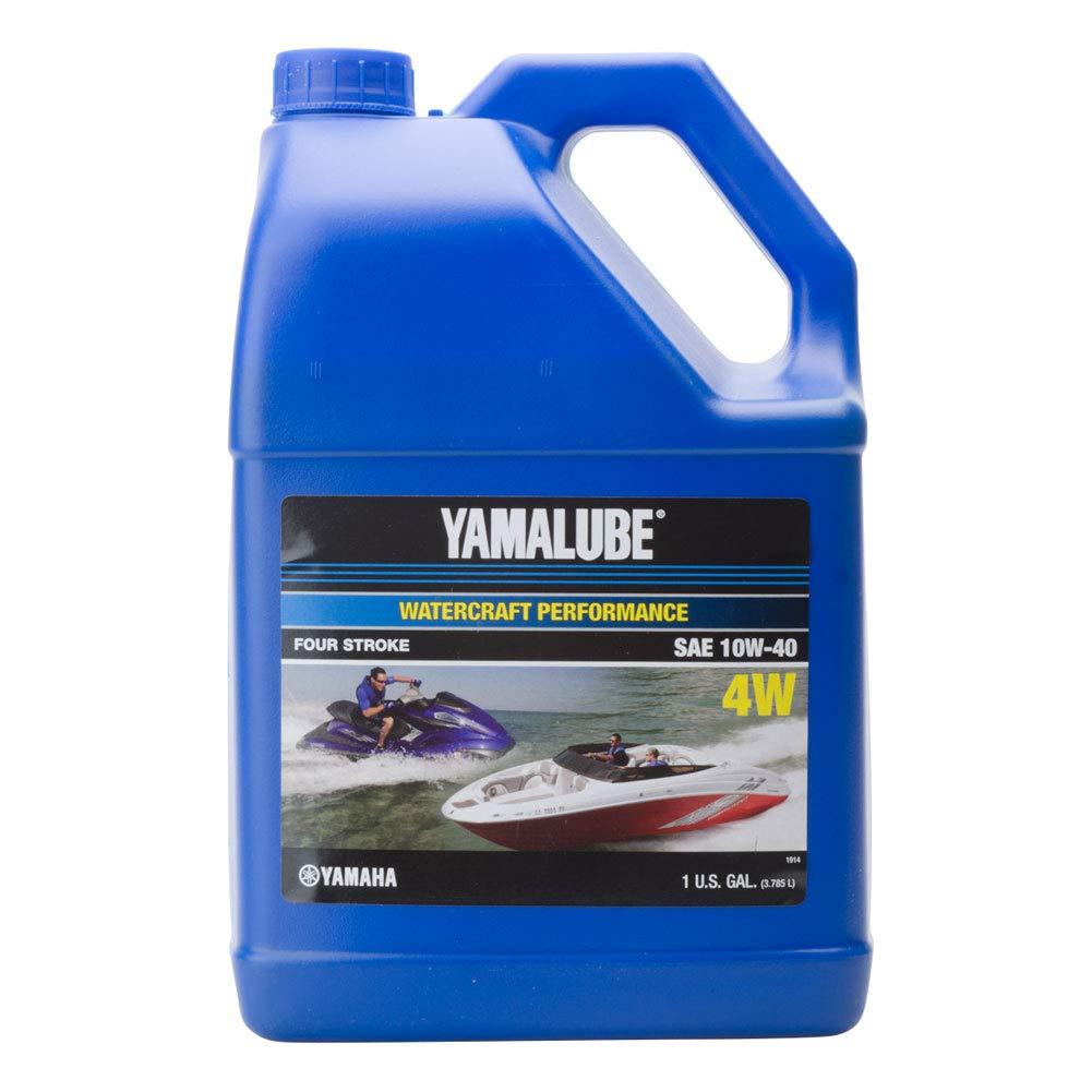 Yamaha New OEM WaveRunner Boat Oil Gallon 10W-40 4W WATERCRAFT LUB-10W40-WV-04 by YAMAHA