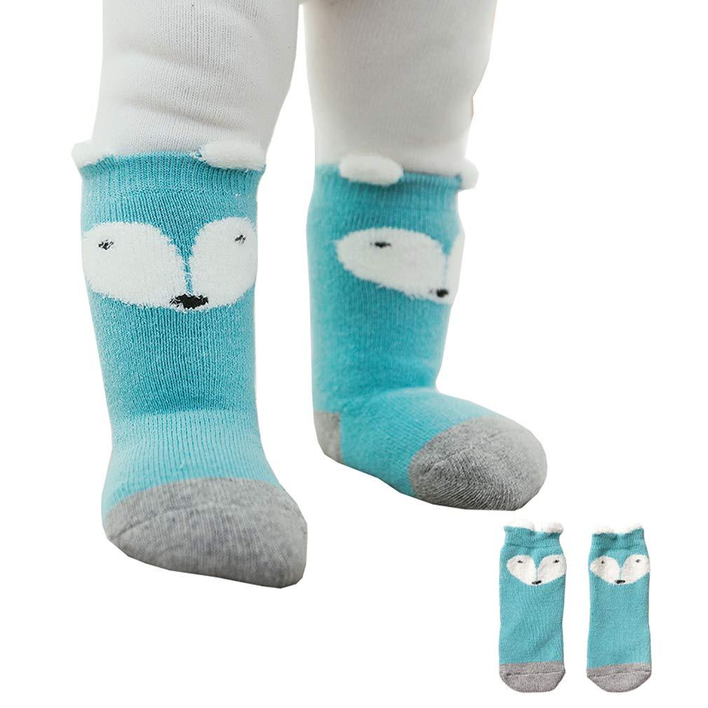Anti-slip Car Xiang Ru 1 pair Newborn Baby Socks Polyester Thick Warm