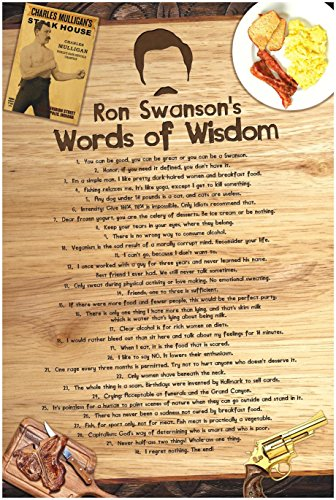 Ron Swanson s Words of Wisdom Poster, inspired by Parks and Rec 36 x