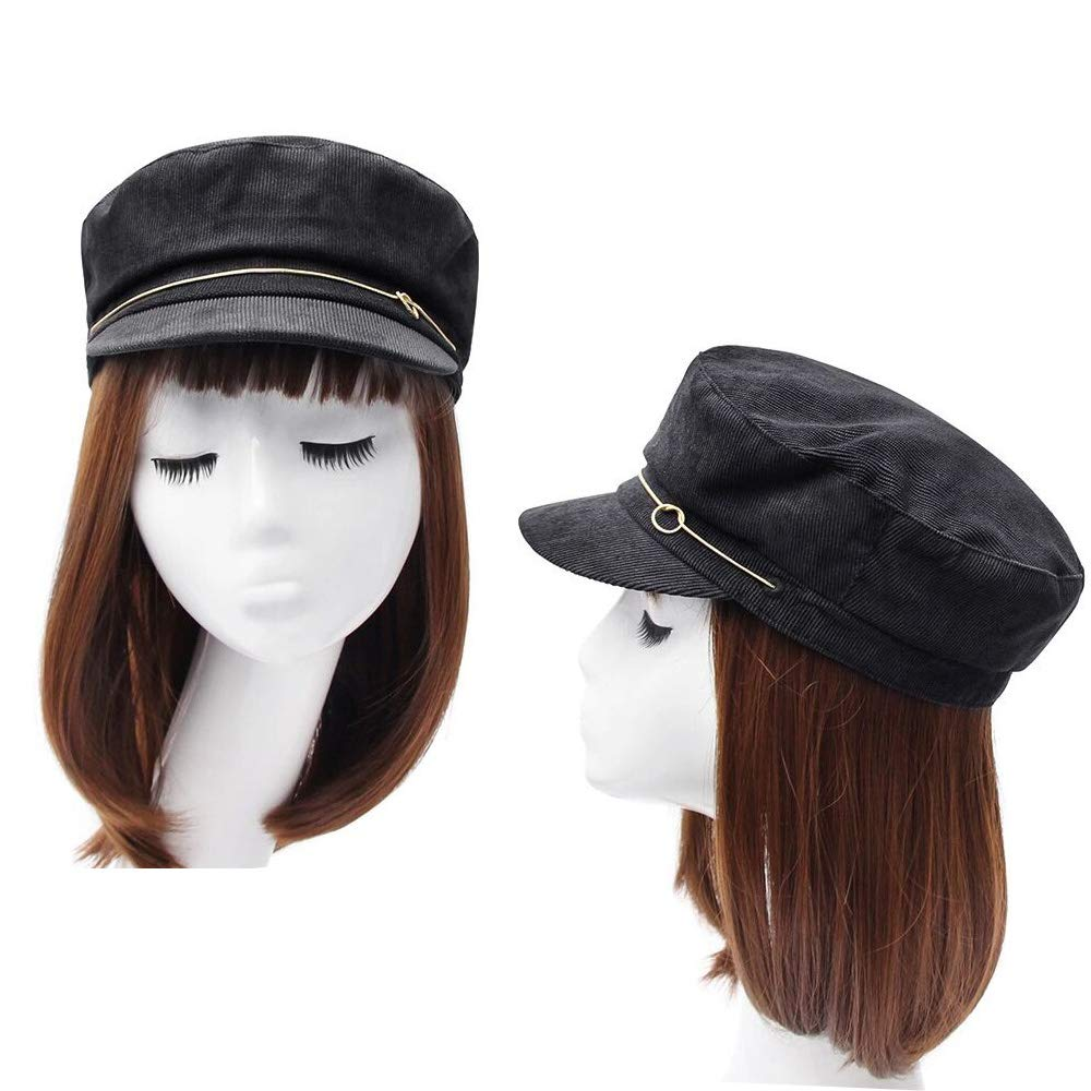 Breton Style Flat hat Womens Corduroy Fiddler Cap Mariner Cap Fashion Newsboy Beret Bakerboy Peaked Cap