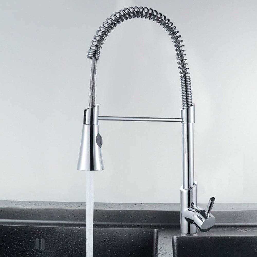 温水と冷水の混合多機能スプリングプル浴室の台所の蛇口、バルブ本体の銅芯、汚染を減らす、セラミックバルブ芯、厚いベース 作りが精巧である