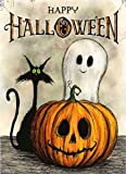 SKRYUIE 5D Diamond Painting Halloween Ghost Pumpkin Cat Full Drill by Number Kits, DIY Craft Paint with Diamonds Arts…