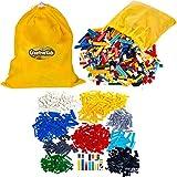 Creative Kids Building Blocks Set For Kids & Children - Includes 1200 PCS - 14 Different Shapes, Assorted Colors & Sizes, Storage Bag, CE Certified & Non-Toxic - Ages 6 +