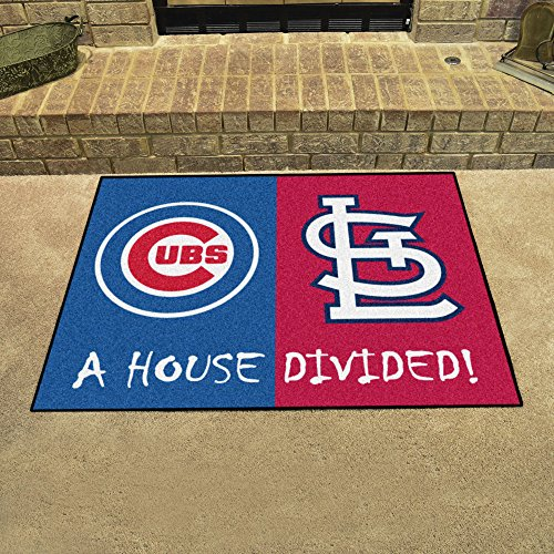 Fanmats St. Louis Cardinals House Divided Rugs ()