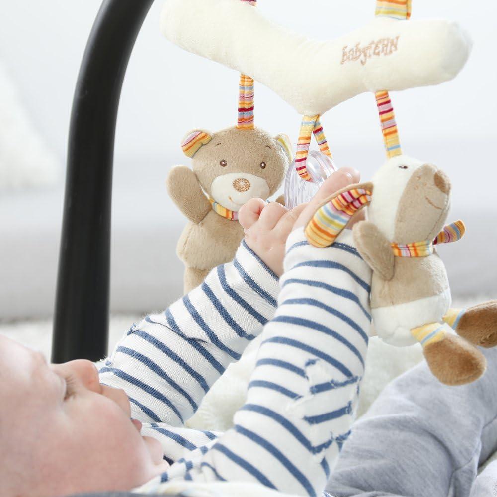 Ma/ße: 27cm lang Spielen f/ür Zuhause oder unterwegs Stoff-Trapez zum Greifen F/ühlen Fehn 160987 Activity-Trapez Rainbow F/ür Babys und Kleinkinder ab 0+ Monaten