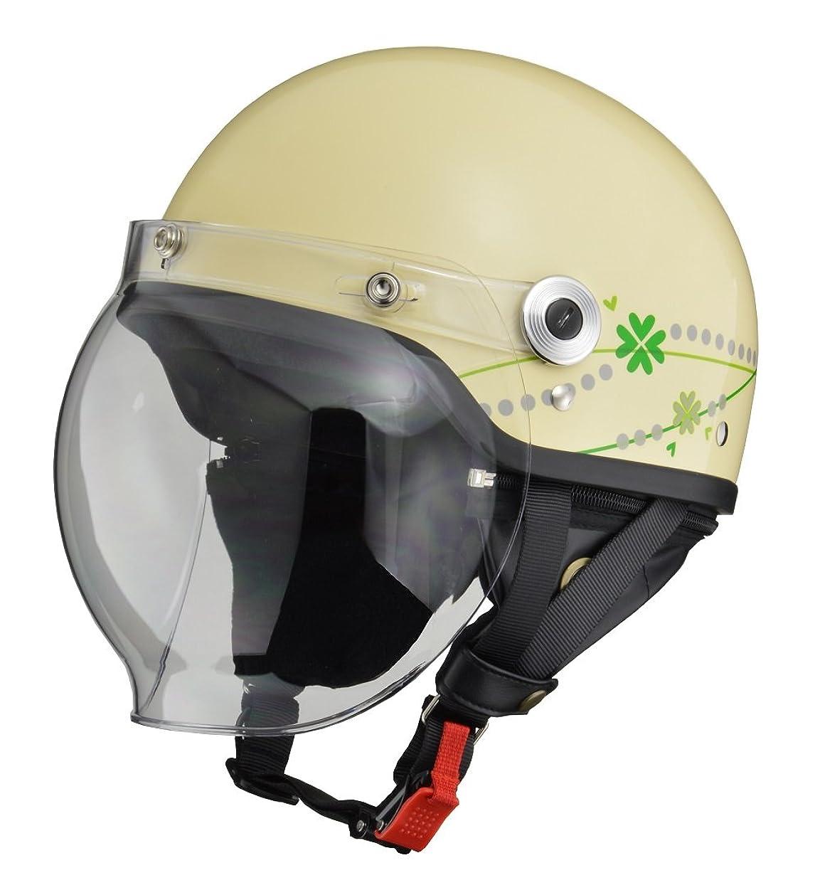 知人手書き性格リード工業(LEAD) バイクヘルメット ジェット CROSS バブルシールド付きハーフヘルメット ブラック×オレンジ CR-760 FREE (頭囲 57cm~60cm未満)
