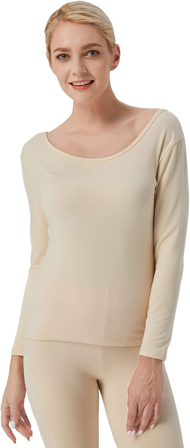 Liang Rou Women's Ultra Soft Fleece Lined Long Sleeve Thermal Top