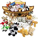 2-Foot Noah's Ark Plush Toy Playset - 42-Piece Set of 4'' Stuffed Animals with Ark by Imagination Generation