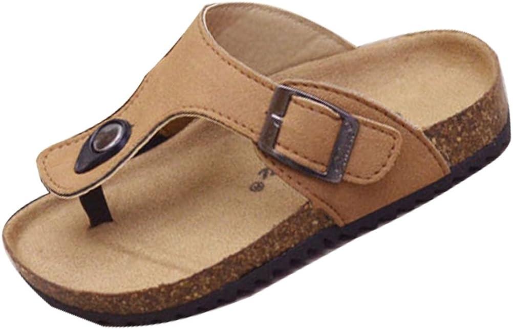 Mallimoda Girls Boys Thong Cork Footbed Slippers Sandals Flip Flops