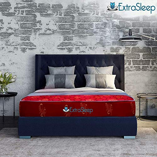Extra Sleep Coir Mattress 5 Inch Back Support Orthopaedic Care, Cotton Breathable Fabric Double Size  72x48x5