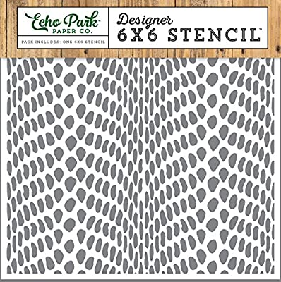 Echo Park Paper Company Snake Skin Jungle Safari Stencil