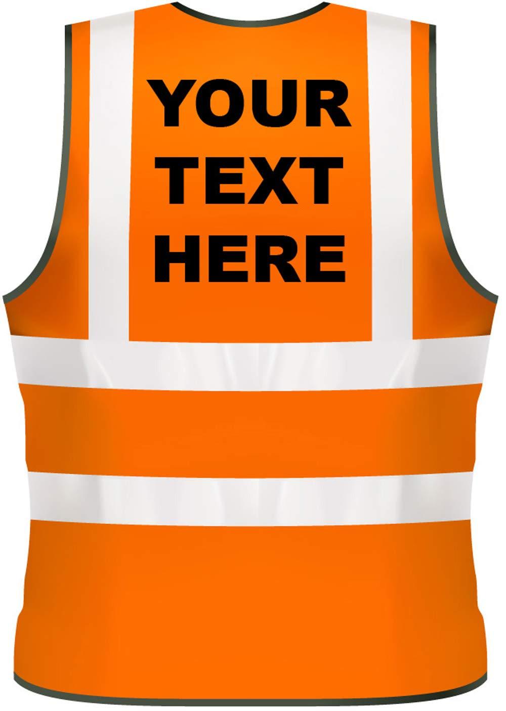 XL, Pink Hi Vis Personalised Vest Safety Reflective Waistcoat Security Hi Viz