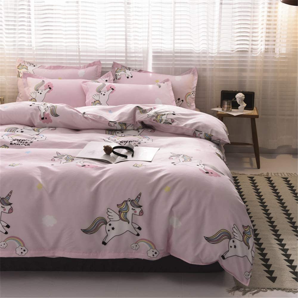 WINLIFE 3-Pieces Duvet Cover Set for Toddler Black and White Bedding Panda Print Comforter Cover for Girls//Teens Bedding Sets Panda, Twin