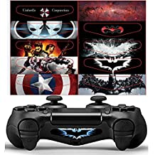 XFUNY® Light Bar Sticker for PS4, Set of 10 Different PCS Light Bar Decal Stickers Film for PS4 PlayStation 4 Controller DualShock 4 - (10 styles on 1 PCS)