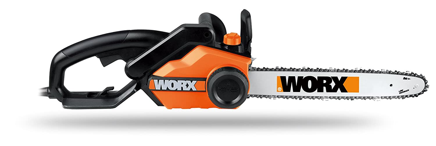 Roll over image to zoom in WORX 16-Inch 14.5 Amp Electric Chainsaw with Auto-Tension, Chain Brake, and Automatic Oiling – WG303.1