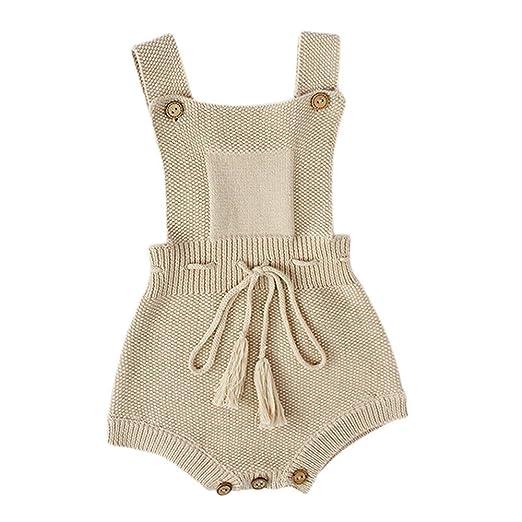 d9a188cf6 Amazon.com  TiTCool Newborn Baby Girls Boys Tassel Lace Up Suspender ...
