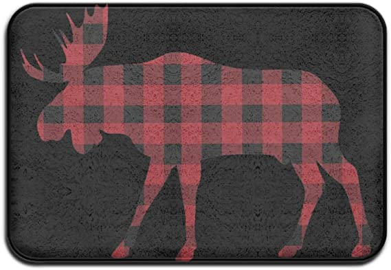 Multicolor Christmas Moose Doormat Rugs Non Slip Indoor//Outdoor