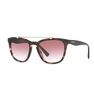 d21061d30a20 Image Unavailable. Image not available for. Color  Valentino VA4002 50328H Havana  Pink Marble VA4002 Square Sunglasses ...