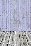 Laeacco 3x5ft Backdrop Wood Photography Background Mottled Blue Plain Wood Bckdrop Vintage Stripes Wall Floor Nostalgic Newborn Baby Kids Children Photos Background Backdrop Video Photo Studio Props
