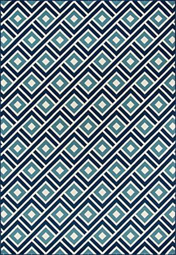 Nolita Rugs Kiernan Polypropylene Blue Indoor/Outdoor Rug 8'6″ X 13'