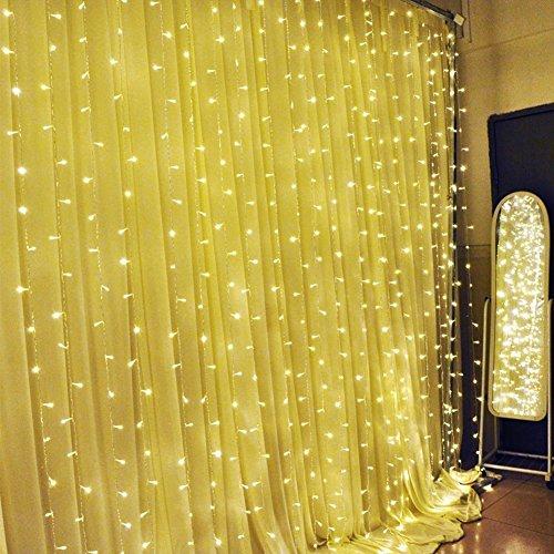 solmore home decorative garden decorative window curtain festival led lights 3x3 meters warm. Black Bedroom Furniture Sets. Home Design Ideas