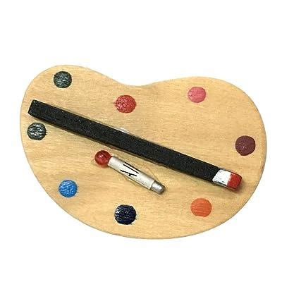 1:12 Casa de Muñecas Miniatura Pintura Y Pincel Paleta Artista: Juguetes y juegos