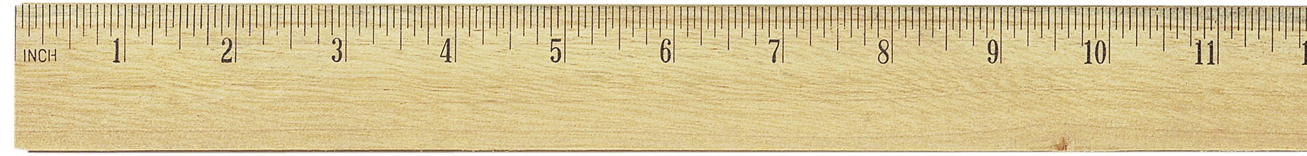 Officemate OIC Classic Wood Ruler with Double Metal Edge, 24-Inch (66003)