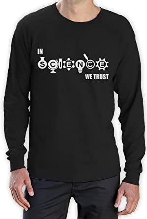 In Science We Trust Cool Atheist Hipster Gift Idea Women Long Sleeve T-Shirt
