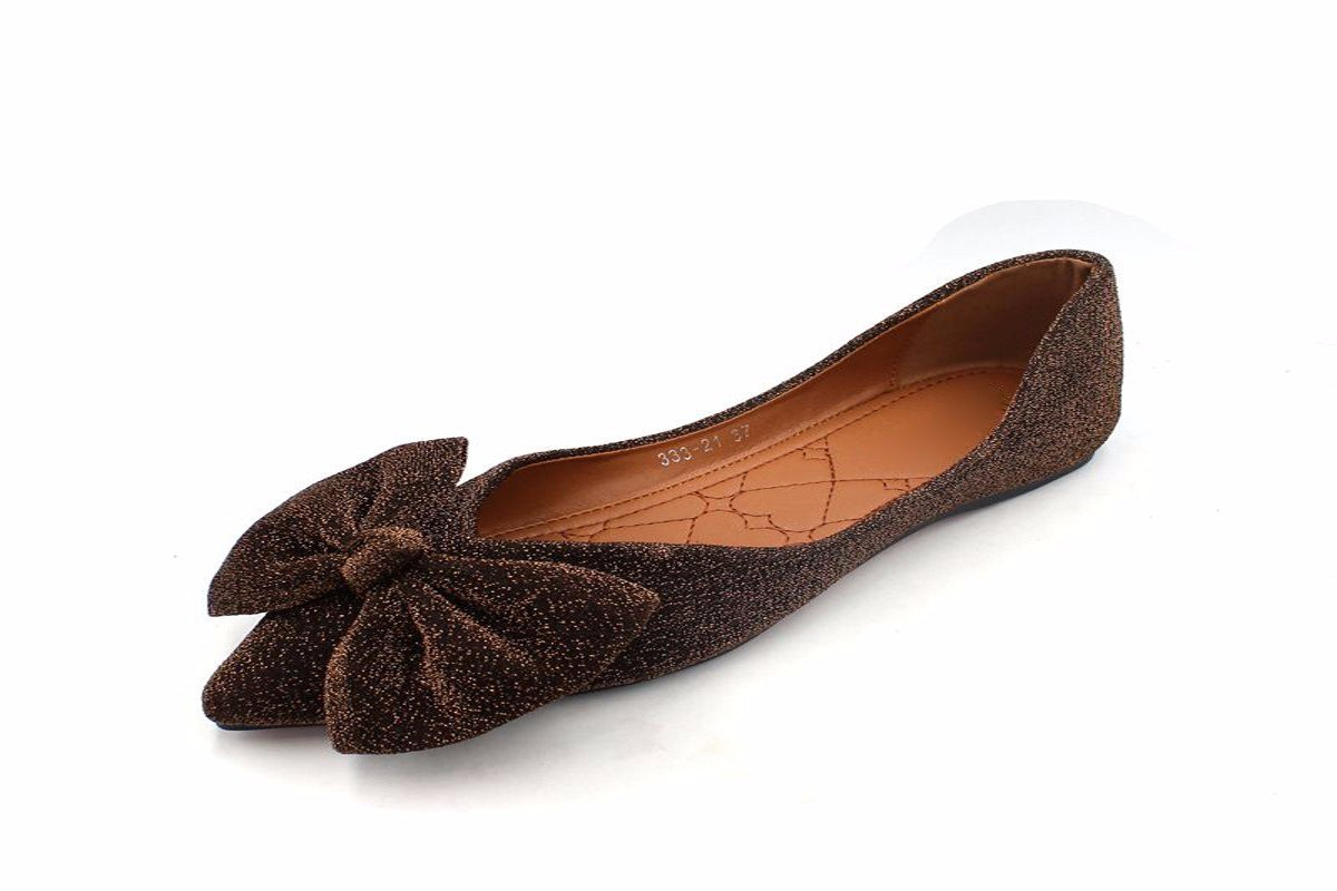 HBDLH Chaussures pour Femmes/La Mode Robe Dorée des Chaussures pour Femmes Arbalète Confortables Et des Chaussures À Semelle Antidérapante Pointu.