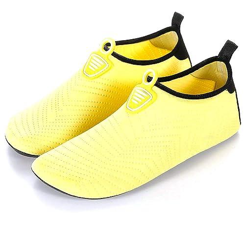 LANSEYAOJI Zapatos de Agua Hombres Mujer Niños Verano Secado Rápido Aqua Calzado Ligeros Transpirable Zapatillas Snorkel Bucear Surf Swim Piscina Playa Yoga ...