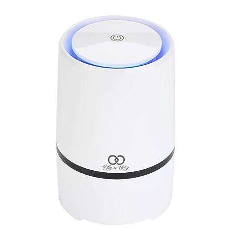 Purificador de aire USB portátil para casa y oficina con filtros de carbono activos de Hepa ...