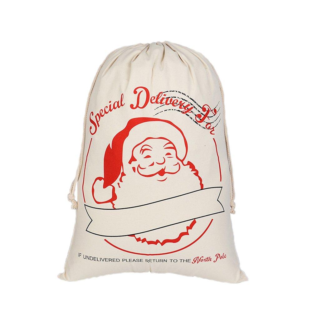 Aspire all' Ingrosso di Natale Gigante Tela Coulisse Borse Spesa Riutilizzabile Gift Storage, Santa, Taglia Unica