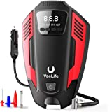 VacLife Air Compressor Tire Inflator, DC 12V Air Pump for Car Tires, Bicycles and Other Inflatables, Auto Portable Air…