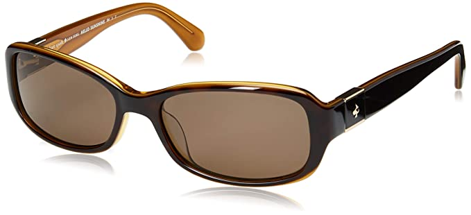 a4ce5c702aaf1 Kate Spade Paxton2 S 086 SP Dark Havana Plastic Oval Sunglasses Bronze  Polarized Lens