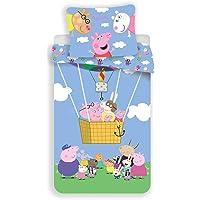 JFabrics Peppa Pig Ballon - Juego de cama infantil (140 x 200 cm)