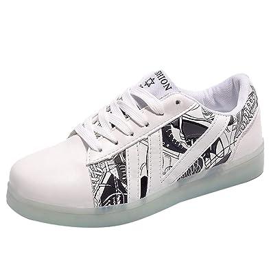 74b2c20297840 Amazon.com | Star_wuvi USB Charging Light Up Shoes Sports LED Shoes ...