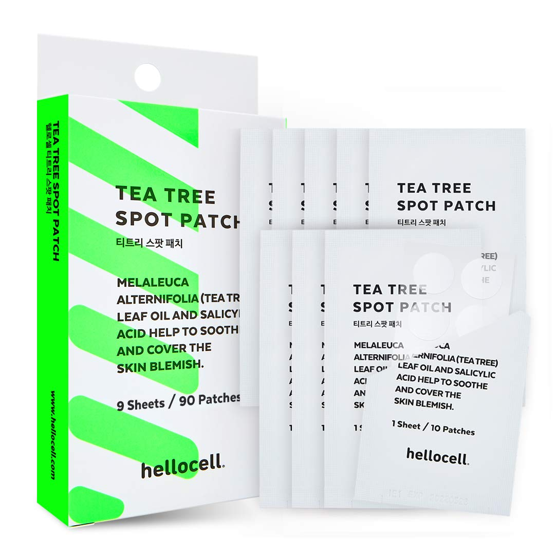 Tea Tree Spot Patch 90 dots - small, invisible, bandaids, Salicylic Acid,Fast, Fix, treatment, blemishes, Spot, Cover, Acne, Pimple, Blemish, Face, Stickers, 0.55 Inch, Patches