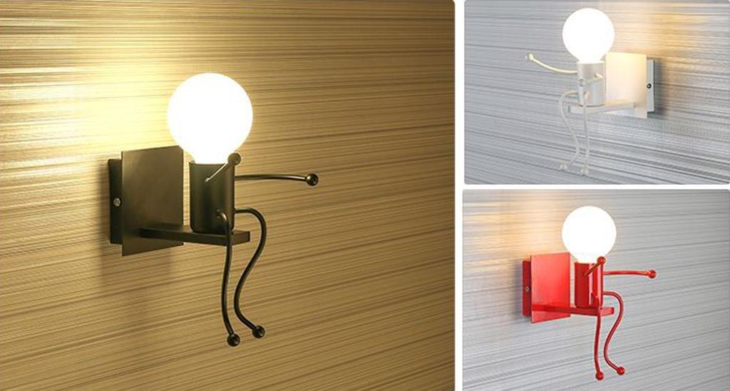 Hanlinlight lampada da parete moderna stile applique murale