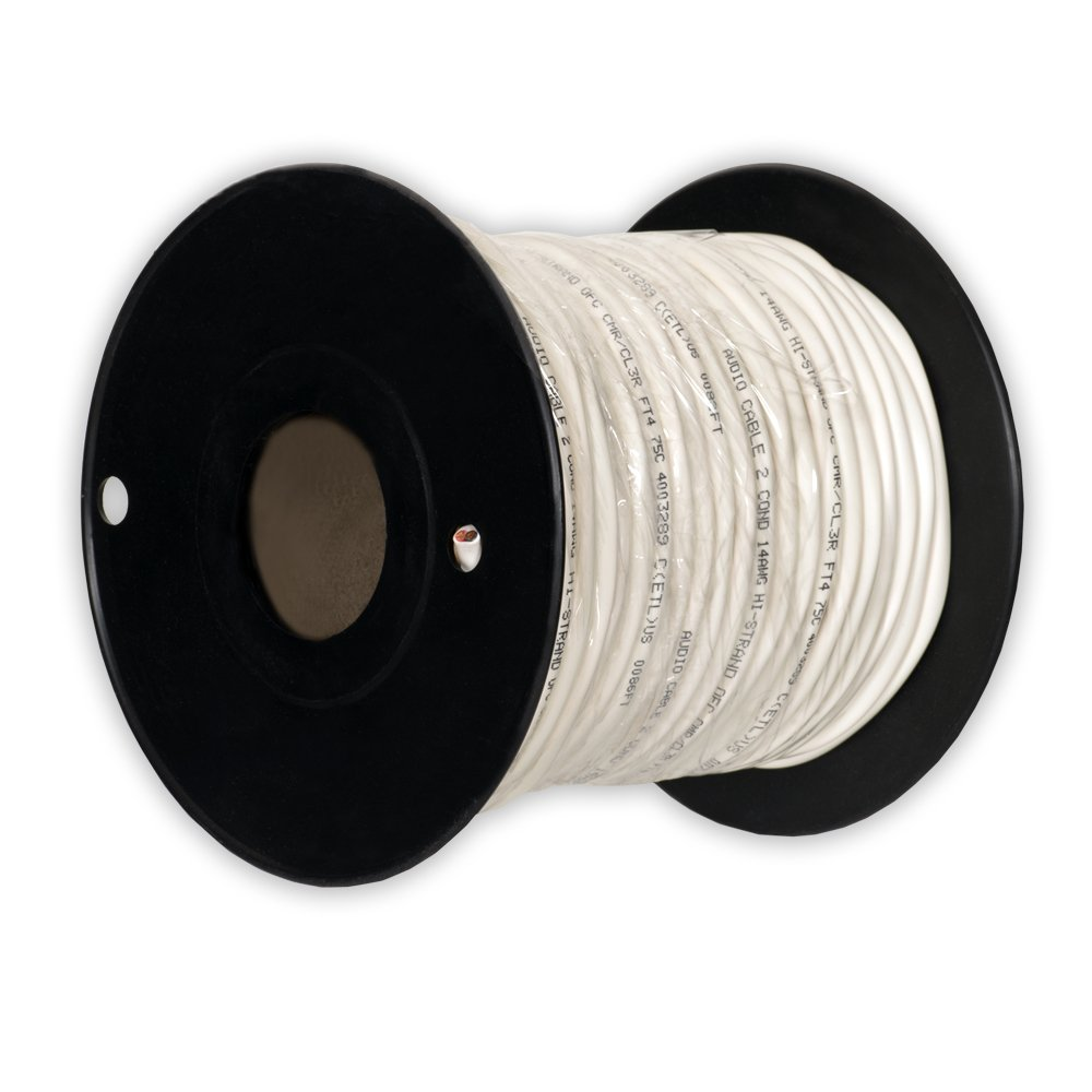 Theater Solutions C100-14-2 CL3 Rated Speaker Wire 2 Conductor 14 Gauge 100 Feet Roll UL Listed by Theater Solutions
