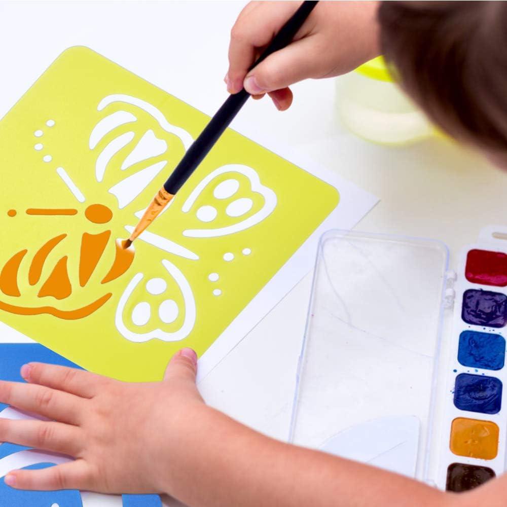 Meetory Pochoir et peinture de 2,7 m pour enfants R/éutilisable avec r/ègle de croissance pour enfants mesurant la hauteur du mur d/écoration rustique pour ferme avec r/ègle flexible de 120 cm