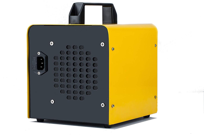 Amarillo ELINP Generador de ozono Comercial purificador de Aire de ozono Industrial Humo Coches y Mascotas eliminador de olores ionizador para Habitaciones 10.000 MG//h